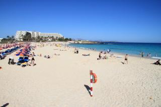 Der Dünenpark bietet einen schönen Strand auf Fuerteventura